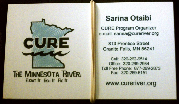 CURE business card
