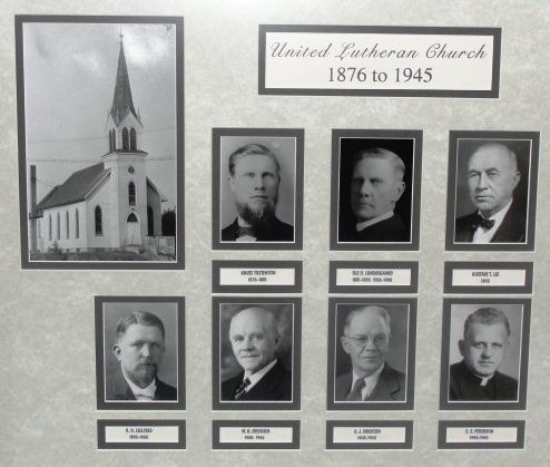 Old photo of the Old North Church and its past pastors