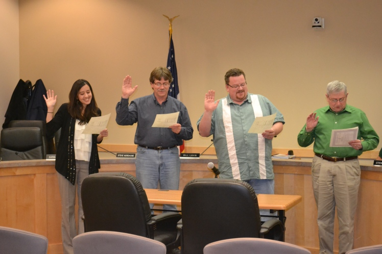 Swearing in on Monday, December 3rd, 2012.