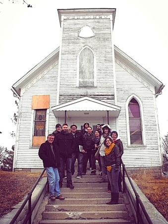 Minneapolis College of Art & Design students visit to my church, winter of 2012.